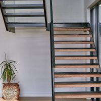 feature oak staircase